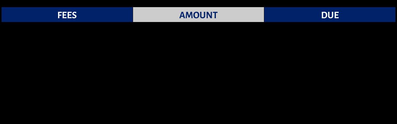 International Student Fees